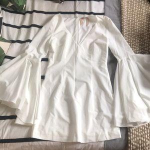 Dolls kill white flared sleeve mini dress
